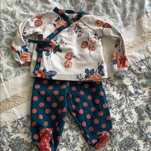 Matilda Jane Two-Piece Floral And Dot Set